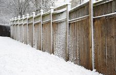 Free Fence Covered In Snow Stock Images - 18124904