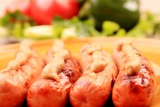 Free Vegetables And Sausages Royalty Free Stock Photography - 18125407