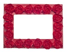 Free Red Rose Modern Vibrant Colored Empty Frame Royalty Free Stock Photo - 18125455