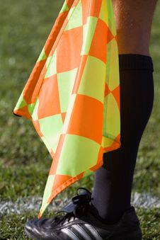 Free Soccer Linesman Royalty Free Stock Photos - 18125588