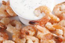 Free Fried Shrimps Royalty Free Stock Photos - 18125728