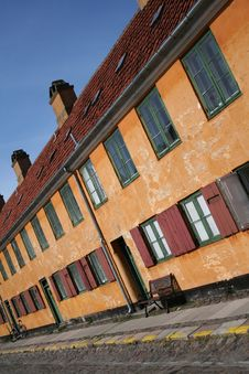 Free Vintage Houses In Copenhagen Stock Photo - 18125850