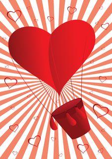 Free Flying Heart Royalty Free Stock Photo - 18125895