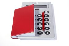 Free Great Calculator And Red Notebook For Reference Royalty Free Stock Photography - 18126257