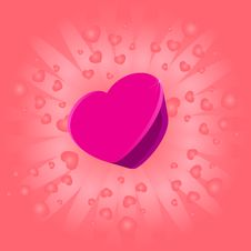 Big Valentines Heart Stock Photography