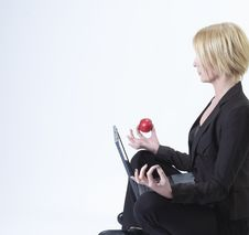 Businesswoman Sitting Royalty Free Stock Images