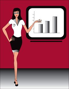 Free Business Office Women  Illustration Stock Photography - 18127172