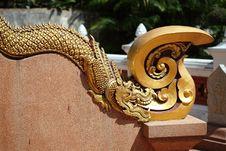 Free Thai Ancient Dragon Statue Stock Image - 18127201
