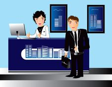 Free Business Office People  Illustration Stock Image - 18127341