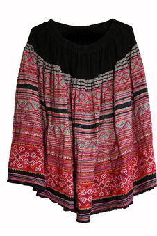 Thai Hilltribe Folk Textile Stock Image