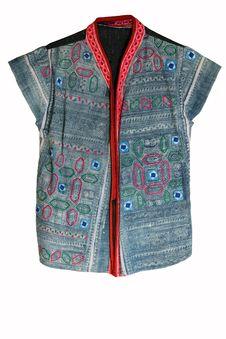 Free Thai Hilltribe Folk Textile Royalty Free Stock Photos - 18128358