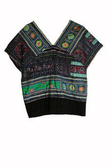 Free Thai Hilltribe Folk Textile Royalty Free Stock Photos - 18128418