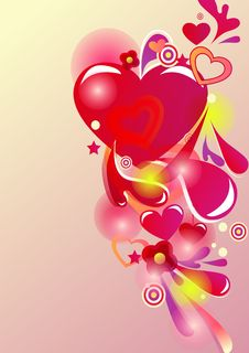 Free Abstract  Valentine Background Royalty Free Stock Photography - 18128587