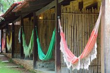 Free Hammocks Hanging At Resort Stock Images - 18128734