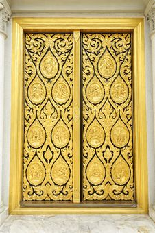Free Golden Door Of Church Stock Image - 18128751