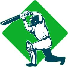 Free Batsman Batting Stock Photos - 18128863