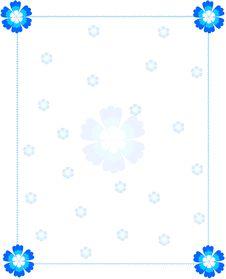 Free Blue Flower Frame Stock Image - 18129261