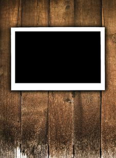 Free Frame On Wood Royalty Free Stock Photo - 18129445