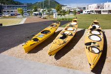 Free Kayaks For Hire On A City Waterfront Royalty Free Stock Photo - 18129565