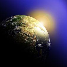 Free Earth At Sunrise Stock Image - 18129661