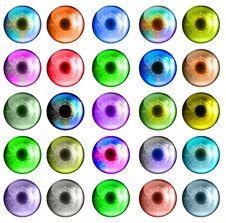 Free Colorful Eye Set Royalty Free Stock Image - 18129776