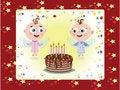 Free Birthday Postcard Stock Photography - 18132902