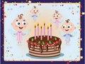 Free Birthday Postcard Royalty Free Stock Photos - 18133058