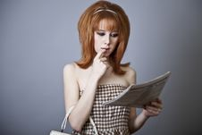 Free Portrait Of Red-haired Girl. Stock Photography - 18131312