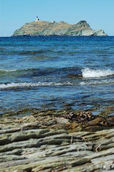 Island Near Corsica, Sea View Royalty Free Stock Photo