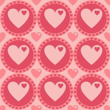 Free Cute Hearts Pattern Royalty Free Stock Photography - 18132317