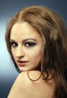 Free Sensual Red Hair Woman Studio Shot 2 Stock Photos - 18132343