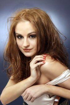 Free Sensual Red Hair Woman Studio Shot 5 Stock Photo - 18132410