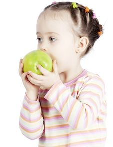 Free The Child With An Apple Stock Photos - 18132793