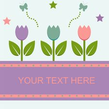 Free Cute Spring Card Royalty Free Stock Photo - 18132915
