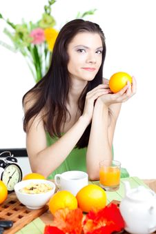 Free Beautiful Woman  In Cafe Stock Photography - 18132972