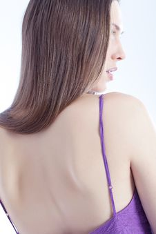 Free Beautiful Woman`s Back Royalty Free Stock Photo - 18133235