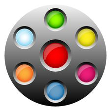 Round Web Buttons Stock Photos