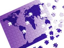Puzzle Map Stock Image