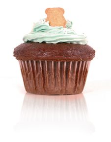 Free Cupcake With Teddy Stock Images - 18138414