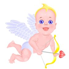 Free Vector Mischievous Little Cupid With A Bow Stock Photos - 18139103