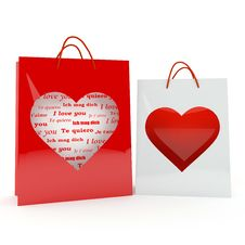 Free Two Hearts On The Bags Stock Image - 18139481