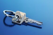 Free Single Apartment Key With Ring Stock Photography - 18139642
