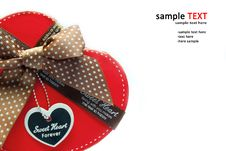 Free Gift Box Shaped Red Heart. Royalty Free Stock Images - 18139879