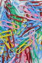 Free Assorted Colored Paper Clips Royalty Free Stock Photo - 18141685
