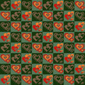 Free Checker Pattern With Hearts Royalty Free Stock Photography - 18145737
