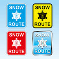 Free Snow Route Sign Stock Image - 18147781