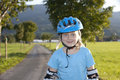 Free Young Beautiul Blond Girl Inline-skating Outdoor Stock Photo - 18149450