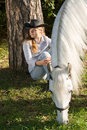Free Young Woman With Her Horse Stock Photography - 18149922