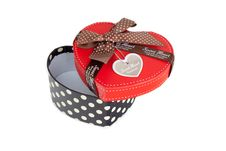 Free Gift Box Shaped Red Heart. Royalty Free Stock Image - 18140116