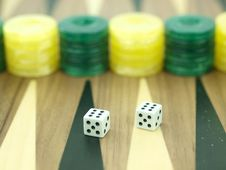 Free Backgammon Set With Dice Royalty Free Stock Photos - 18140458